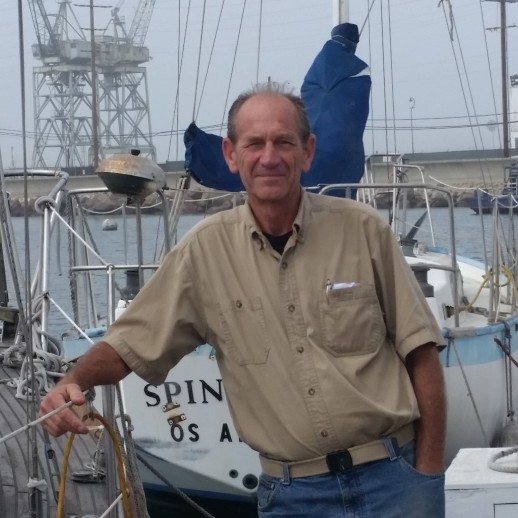 Dan Wolf at marina